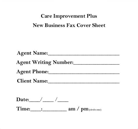 9 Business Fax Cover Sheet Templates To Download Sle Templates Generic Fax Template