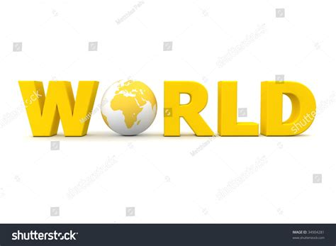 5 Letter Words From Yellow yellow word world with 3d globe replacing letter o stock