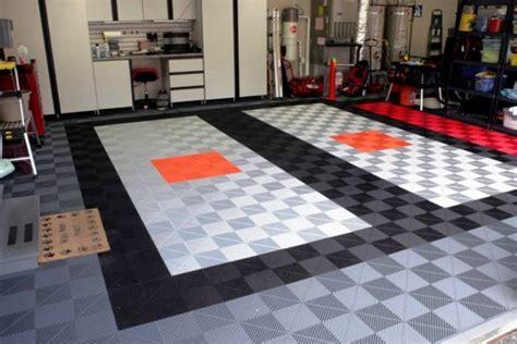 Garage Tile by Garage Flooring Floor Tiles Custom Closets And