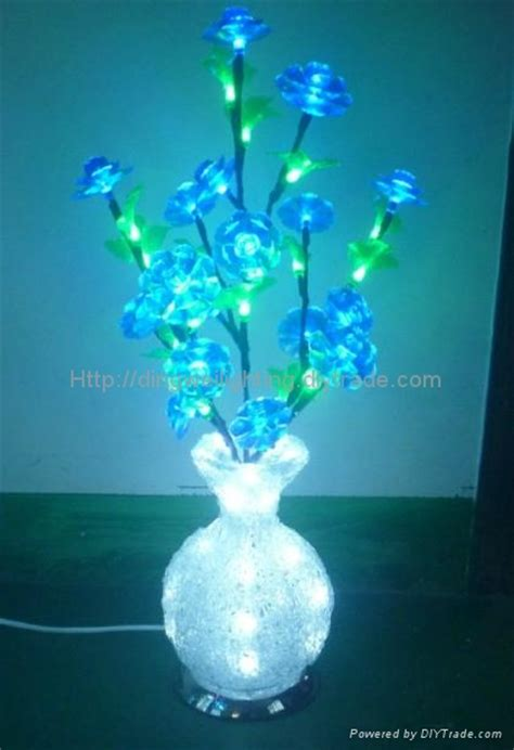 Light Up Flowers In Vase 2014 Novelty New Round Led Crystal Acrylic Flower Vase