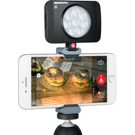 Manfrotto Lumimuse Mount manfrotto lumimuse 8 bluetooth light for smartphones