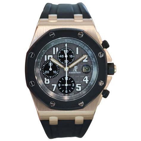 Audemars Piguet Roo Rosegold Rubber Automatic audemars piguet gold royal oak offshore rubberclad automatic wristwatch at 1stdibs