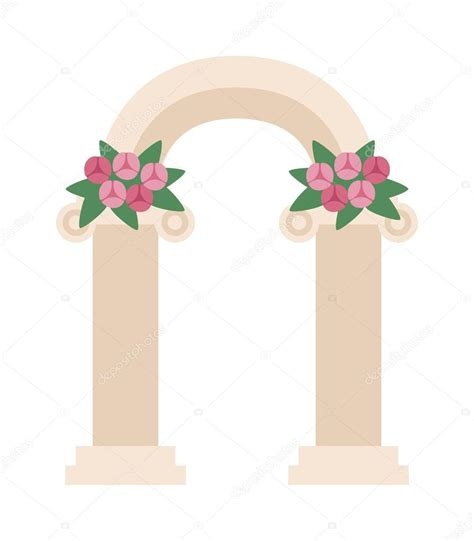 Wedding Arch Vector by Wedding Arch With Pink Roses Vector Illustration Stock