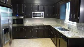 Dark Kitchen Cabinet Ideas gallery of light colored tile backsplash ideas with dark cabinets
