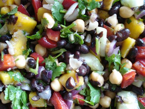 salad recipe mango bean salad recipe cat can cook