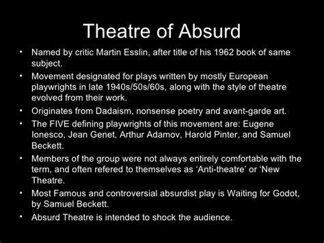 theme definition theatre samuel beckett