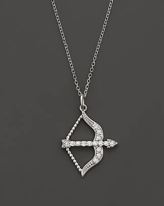 Gq 61509 White Sale Special Event kc designs bow and arrow pendant in 14k white gold