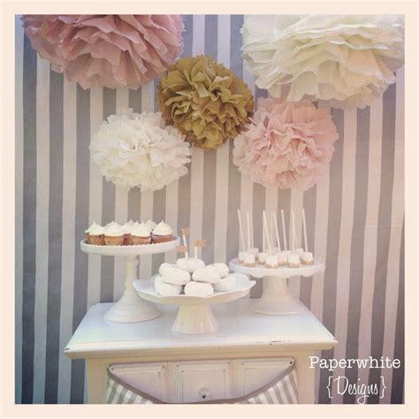 Tissue paper pompoms, baby shower decorations, farmhouse