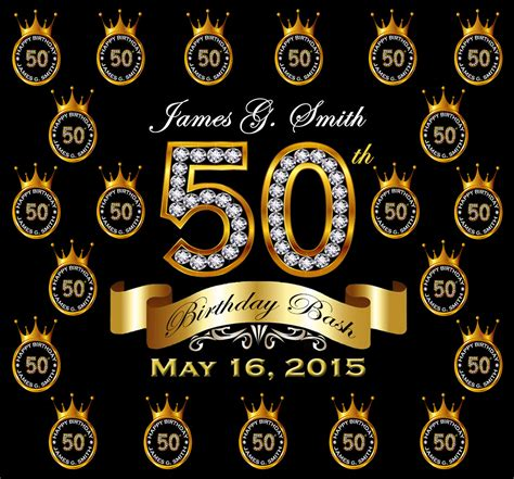 backdrop design for 60th birthday 50th birthday party custom backdrops step and repeat free