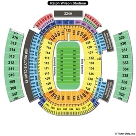 ralph wilson stadium seating chart ralph wilson stadium orchard park seating chart