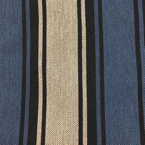 navy blue and white upholstery fabric navy blue white herringbone striped upholstery drapery