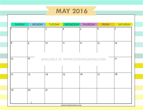 search results for monthly calendar template cute may