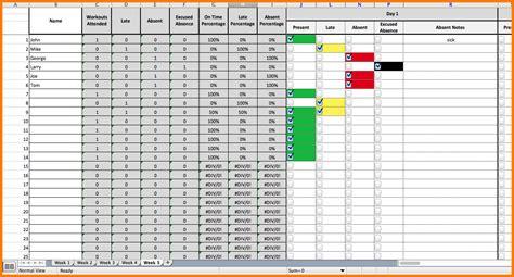 Excel Receipt Tracker Template by Attendance Tracker Dc Design
