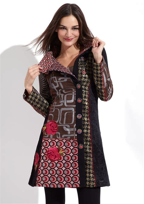 Patchwork Coats - desigual patchwork coat wonderfull