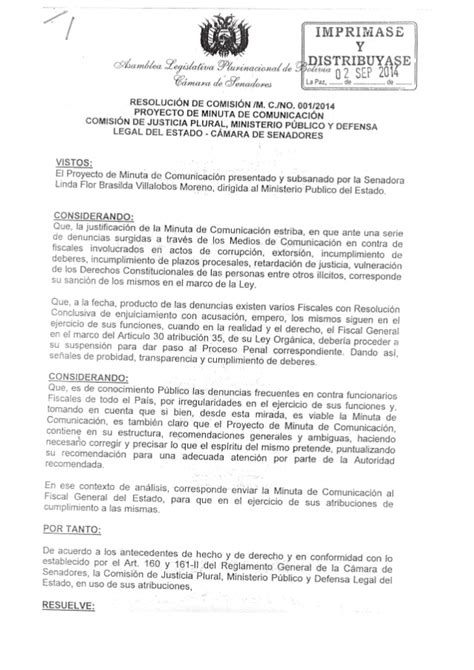 minutas modelo eirl proyecto de minuta de comunicaci 243 n comisi 243 n de justicia plural minis