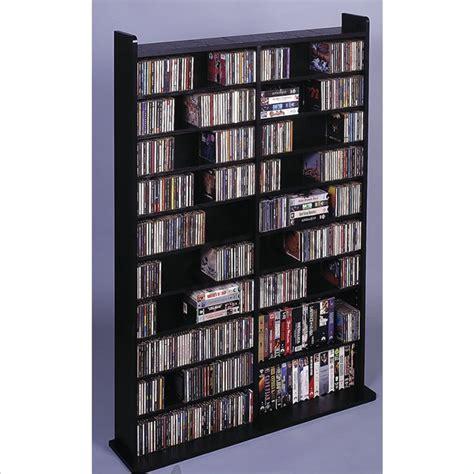 black dvd storage leslie dame deluxe cd dvd media storage wall unit rack black