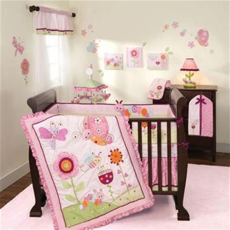 butterfly crib bedding set butterfly and caterpillar baby bedding pink berry and