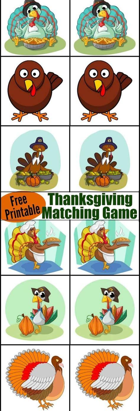 printable turkey game thanksgiving matching game thanksgiving game and