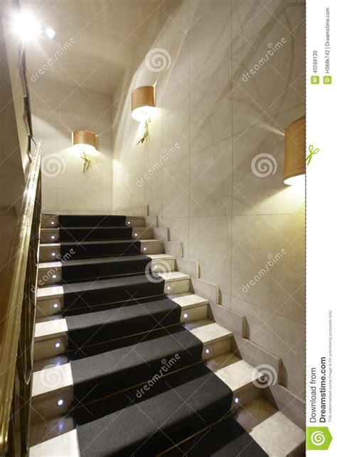 home interior stairs luxury home interior with marble stairs stock photo