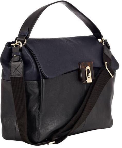 Lanvin Odeon Large Messenger Bag by Lanvin Black For Me Large Leather Crossbody Bag In Black