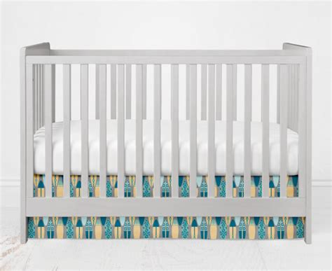 Measurements For Crib Skirt by Standard Size Crib Skirt Surf S Up Collection By