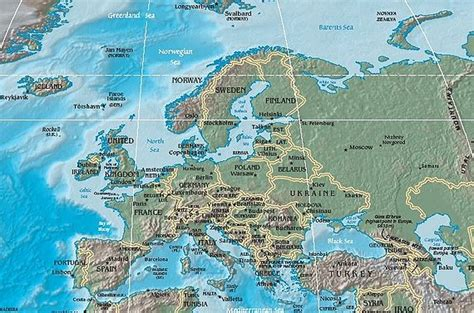 map of europe physical physical map of europe jpg
