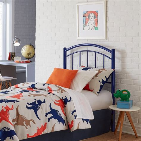 blue twin headboard fashion bed group rylan cadet blue twin headboard with