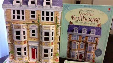 a doll house book usborne books victorian slot together dollhouse youtube