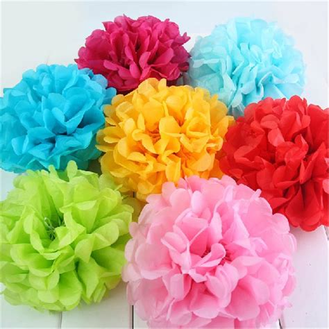 How To Make Large Tissue Paper Flower Balls - tissue paper pompoms flower balls 10pcs 30cm wedding