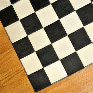 Black And White Checkered Kitchen Rug Cow Hide Patchwork Checkered Bergama Rug Wayfair
