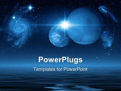 Powerpoint Template Future Planets In Galaxies And Space Powerplugs Powerpoint Templates
