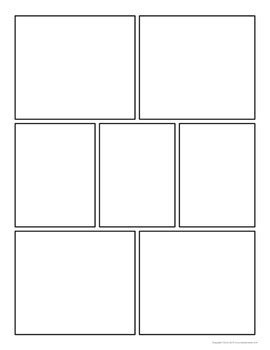 free download comic strip template pages for creative