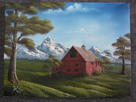 bob ross painting a barn quot barn quot by kevin hill kevin hill