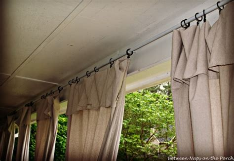 sun porch curtains drop cloth curtains for a porch add privacy and sun control