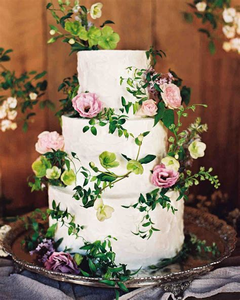 Wedding Cake Flower Tops by 62 Fresh Floral Wedding Cakes Martha Stewart Weddings