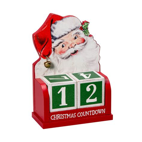 santa claus christmas countdown calendar block calendar