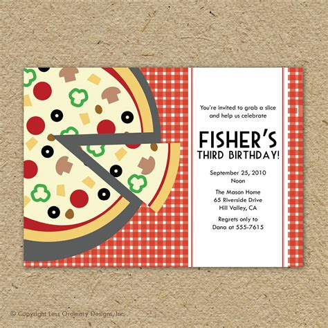 printable pizza party invitation template pizza party invitations party invitations templates