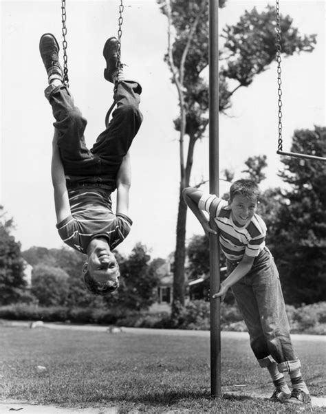upside down swing 21 glorious vintage photos of kids having fun before the