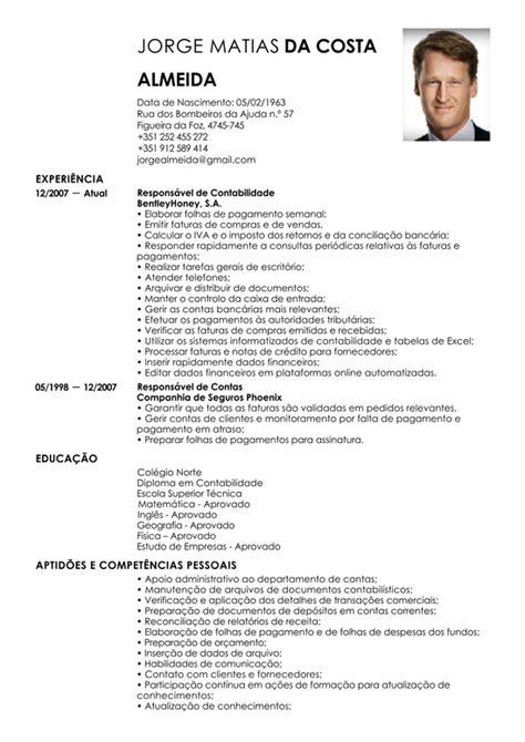 Modelo Curriculum Vitae Em Portugues Modelos De Currculos Prontos 2016 Curriculum Vitae Newhairstylesformen2014