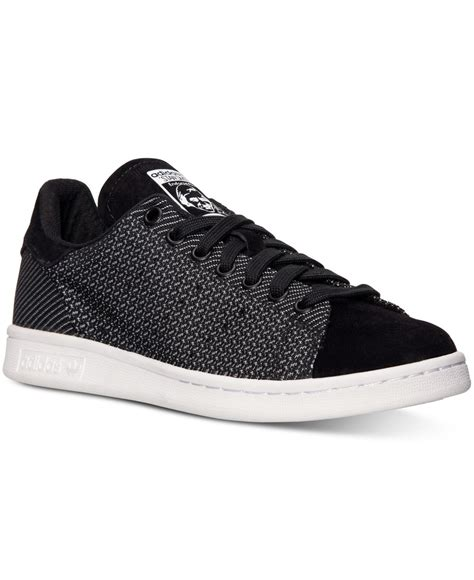 Adidas Slop Xiun Black Slip On Casual Formal Kets Sneakers Kerja lyst adidas s originals stan smith weave casual sneakers from finish line in black for
