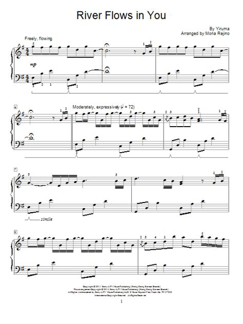 tutorial guitar river flows in you river flows in you sheet music direct