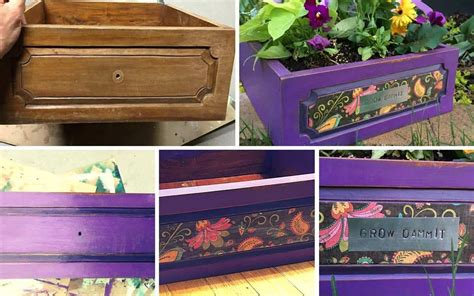 cool diy projects  drawer   planter pretty