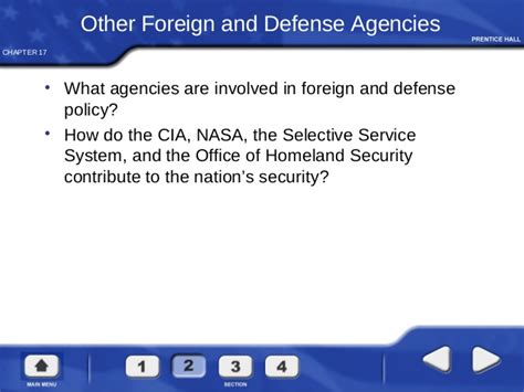 chapter 17 section 1 foreign affairs and national security foreign policy and national defense
