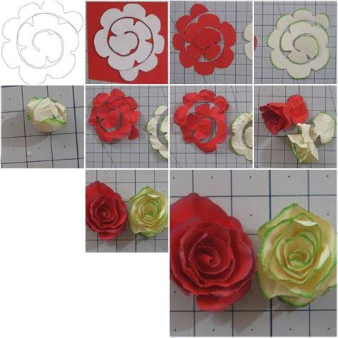 how to make simple paper roses flowers step by step diy tutorial instructions how to how to do