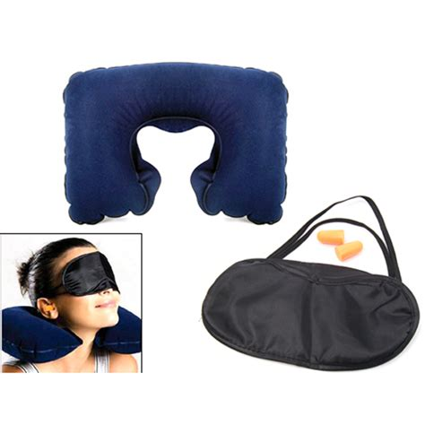 Travel Pillow And Eye Mask by Travel Neck Cushion Pillow And Eye Mask For Sleep And
