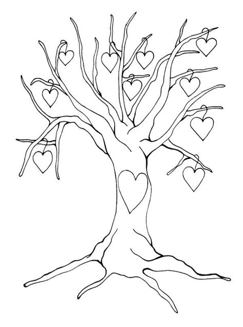 heart tree coloring page 40 best tree images on pinterest tree branches coloring