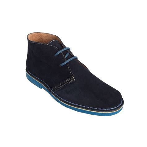 desert boots in navy light blue colors