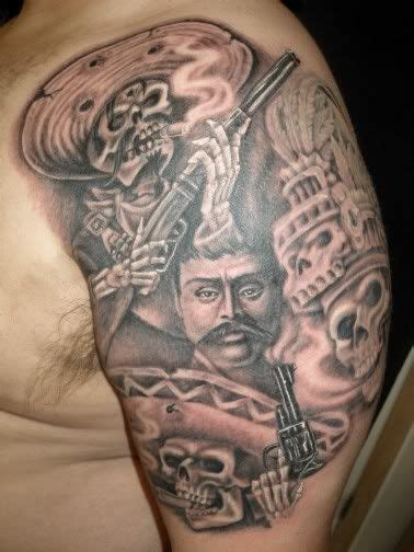 mexican revolution tattoos mexican prison tattoos mexican best tattoos design for