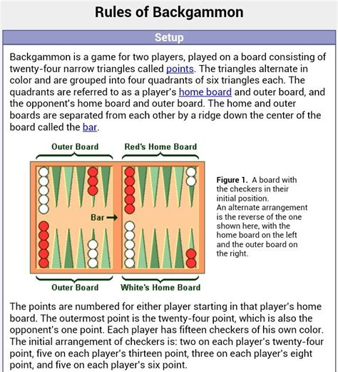 Printable Backgammon Directions | search results for to and from tags printable calendar