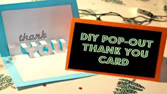 diy easy pop out thank you card